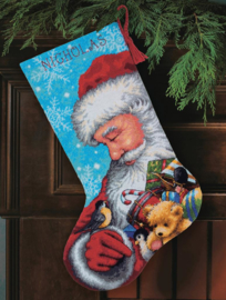 Santa and Toys Stocking Dimensions