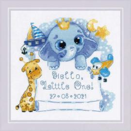 Hello, Little One! (for a boy) Aida telpakket - Riolis