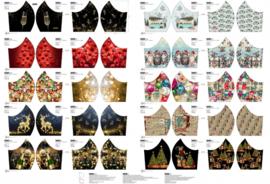 Mondkapjes paneel Kerst/ Oud & Nieuw Stenzo