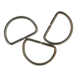 D-Ring 25mm oud zilver