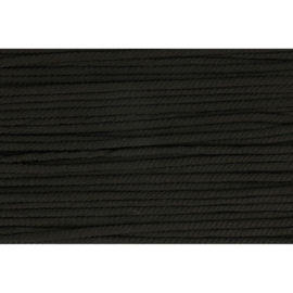 000 Zwart soepel koord 5mm