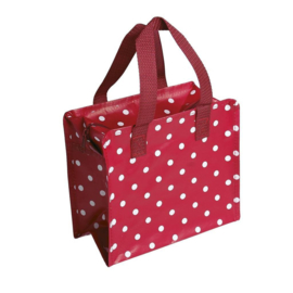 Polka dott red project tasje