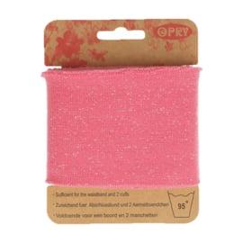 Roze Boordstof met Glinsterende Lurex Opry