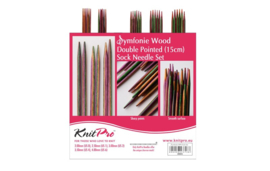 KnitPro Symfonie Wood Double poined sokkennaalden set 15 cm