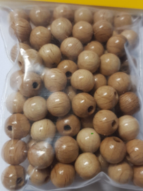 """8mm/0.3"""" 85pcs. Lacquered Wooden Beads"""