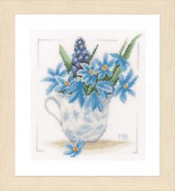 Marjolein Bastin Blue Flowers Lanarte Telpakket
