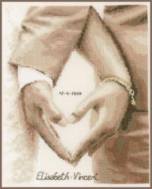 Hartje van het Bruidspaar Aida Telpakket Vervaco