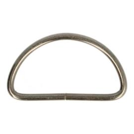 D-Ring 50mm ijzer kleur oud zilver
