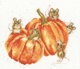 Pumpkin, Spice And All Things Mice Borduurpakket Wrendale Designs by Hannah Dale XHD68
