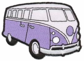 Lila Volkswagen Bus Opstrijkbare Applicatie