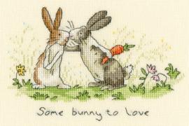 Some bunny to love Aida Borduurpakket Bothy Threads XAJ3