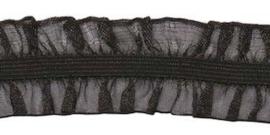 Zwart 25mm 2-Zijdig Roezel Elastiek