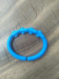 Donkerblauwe Bubbel Kunststof Bijtring
