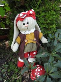 XXL Funny Bunny kledingset Dots herfst Haakpakket