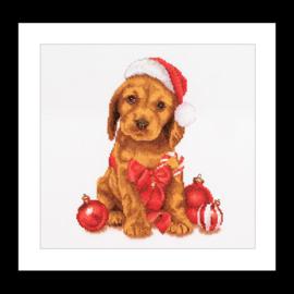 Christmas Puppy Aida Telpakket Thea Gouverneur