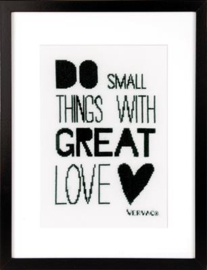 Do Small Things With Great Love aida Vervaco telpakket