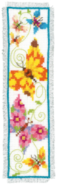 Fladderende vlinders II Aida borduurpakket Boekenlegger Vervaco