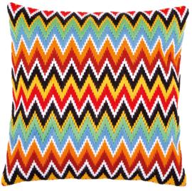 ZigZag Long Stitch Canvas Cushion Vervaco