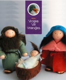 Jozef, Maria en Kindeke Viltpakket Vrolijke Vilt Vriendjes