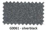 Glitter flexfolie G0061 silverblack