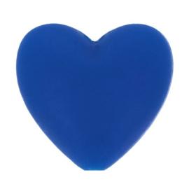 Konings blauwe hartjes Siliconen kralen Opry