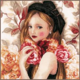 I Hold Roses eavenwave borduurpakket - Lanarte