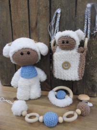 Funny Baby Set Crochet Kit pink/blue