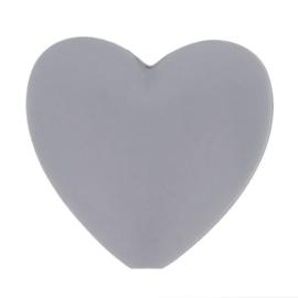 Midden grijze hartjes Siliconen kralen Opry