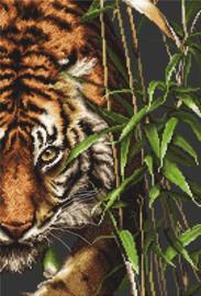 The Tiger (De Tijger) Aida Borduurpakket - Luca-S
