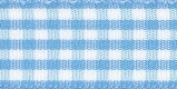 5mm Blauw Geruite Lint p.m.
