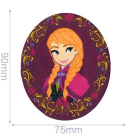 Anna met Bloemenkrans Frozen Opstrijkbare Applicatie