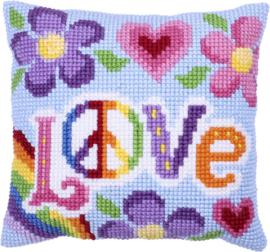 Love Always Voorbedrukt Kruissteekkussen - Needleart Art