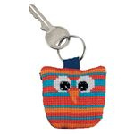 Horizontal Striped Owl Aida Key Ring Permin