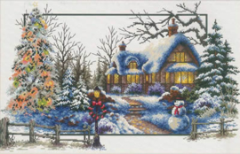 Winter Cottage Aida Needleart World Telpakket