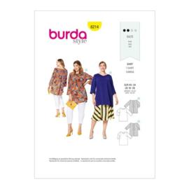 6214 Shirt in Variaties Burda Style Maat 44 - 54