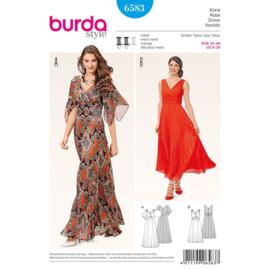 6583 Jurk in Variatie Burda Style Maat  34-46