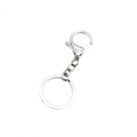 Chrome Musketon Hook Key Ring