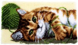 Spelende kat Knooppakket Vervaco