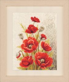 Poppies & Swirls Aida Vervaco