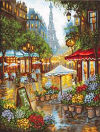 Spring Flowers, Paris Aida Leti Stitch Telpakket