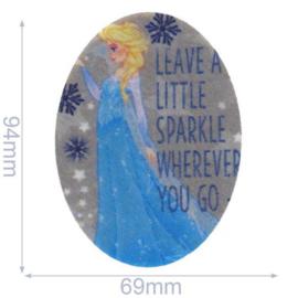 Elsa Leave a Little Sparkle Frozen Opstrijkbare Applicatie