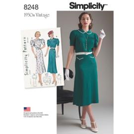 8248 D5 Misses' Vintage 1930s Dresses Simplicity 30-38