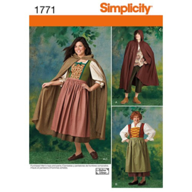 1771 A Misses' and Men's Costume Simplicity 34-44