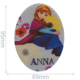 Anna Zittend Frozen Opstrijkbare Applicatie