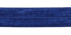 Blauw 20mm Elastisch Biaisband