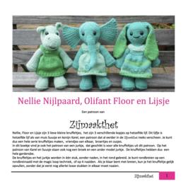 Nellie Nijlpaard, Olifant Floor en Lijsje Patroonboekje ZijMaaktHet