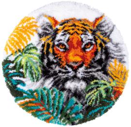Tijger met Jungle Bladeren Voorbedrukt Knoop Pakket Vervaco