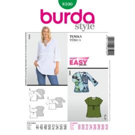 8100 Tuniek in Variaties Burda Style Maat 44-58