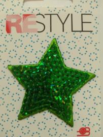 104 Groene Ster ReStyle Paillet Applicatie