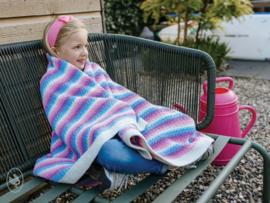 Happy Unicorn Stripes Blanket Gehaakt Durable Velvet